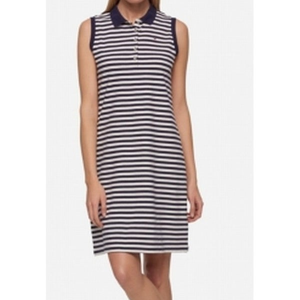 549273b6 Shop Tommy Hilfiger NEW Navy Blue Womens Size M Striped Polo Shirt Dress -  Free Shipping On Orders Over $45 - Overstock - 21473188