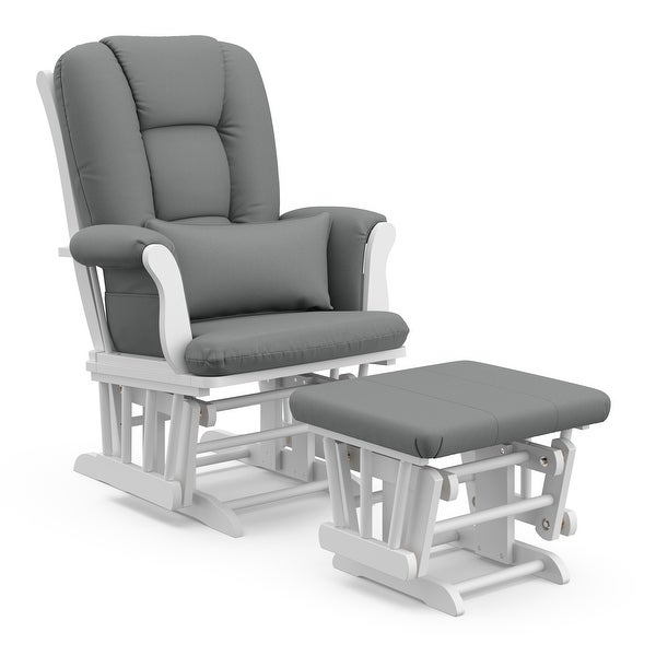 Storkcraft Tuscany Glider & Ottoman with Reversible Lumbar Pillow. Opens flyout.