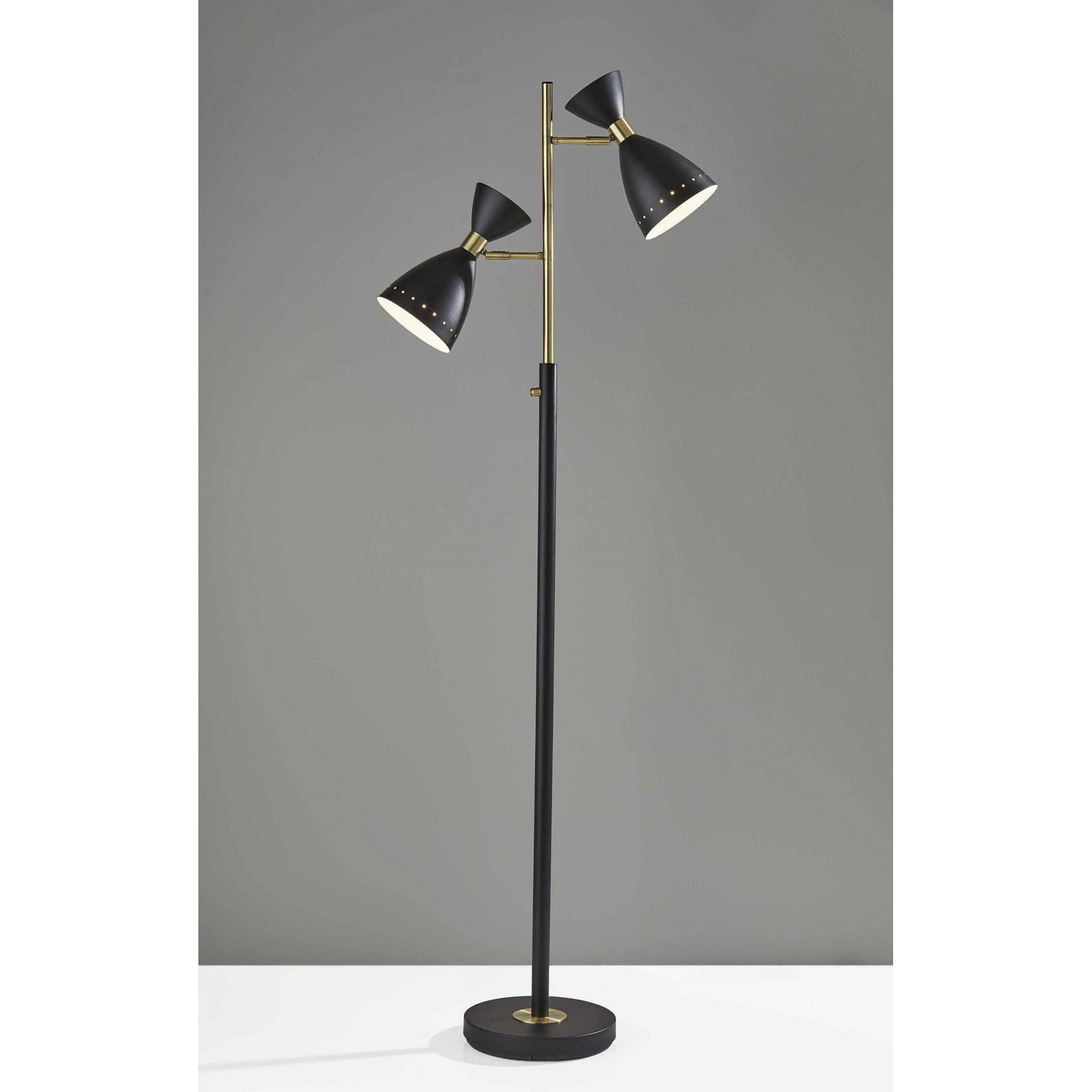 Picture of: Shop Homeroots 25 X 12 75 X 68 Black Metal Tree Lamp 68 X 25 X 12 75 Overstock 32035725