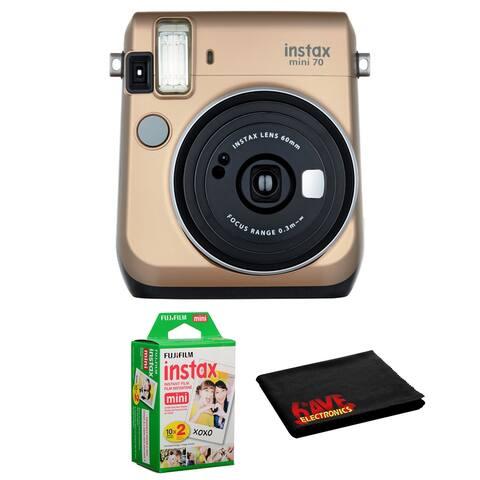 FUJIFILM INSTAX Mini 70 Instant Film Camera Gold Kit +Instant Film