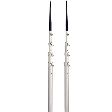 Lee's tackle inc. lee's 16.5' bright silver black spike telescopic poles tx3916sl/sl