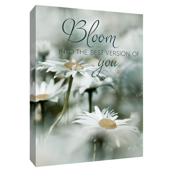 """PTM Images 9-148493 PTM Canvas Collection 10"""" x 8"""" - """"Bloom"""" Giclee Sayings & Quotes Art Print on Canvas"""