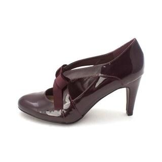 Ann Marino Womens Telma Closed Toe Mary Jane Pumps Wine Size 9.0