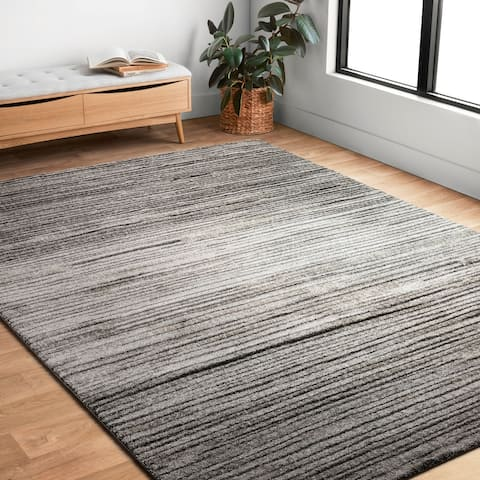 """Alexander Home Brently Abstract Modern & Contemporary Area Rug - 3'10"""" x 5'7"""""""