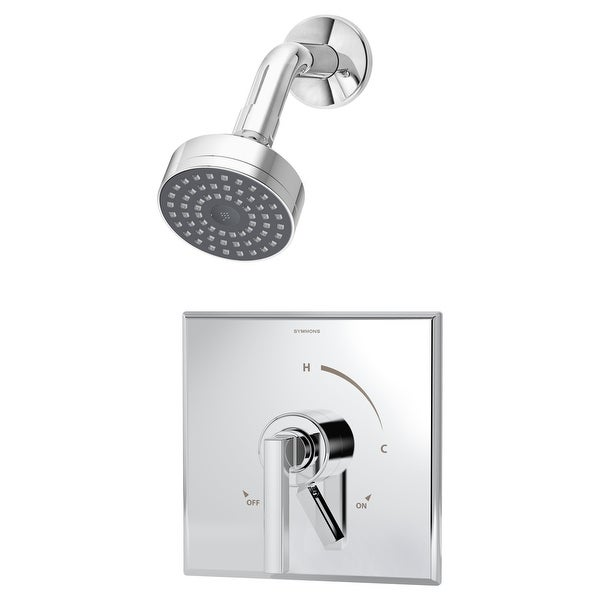Symmons S-3601 Duro Shower Trim Package with Single Function Shower Head and Double Lever Handle