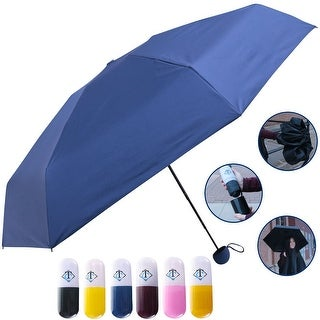 Travella Lightweight Umbrella Weatherproof No Drip Nano Coated UV Protection, Blue