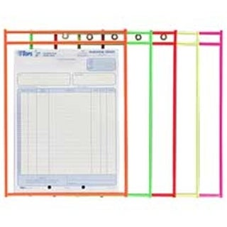 C-Line Products- Inc. Shop Ticket Holder- 9in.x12in.- Metal Eyelet-