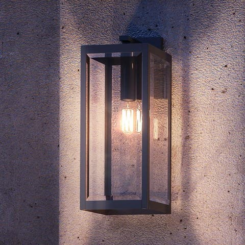 """Luxury Modern Farmhouse Wall Sconce, 20H x 7""""W, with Industrial Style, Natural Black, UQL1332 by Urban Ambiance"""