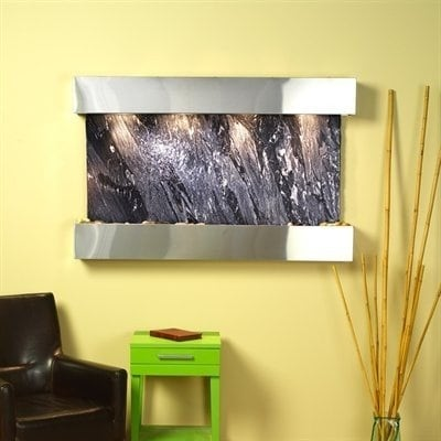Adagio Sunrise Springs With Black Spider Marble in Stainless Steel Finish and Sq