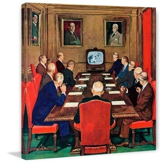 Marmont Hill Baseball in the Boardroom Lonie Bee Painting Print on Canvas