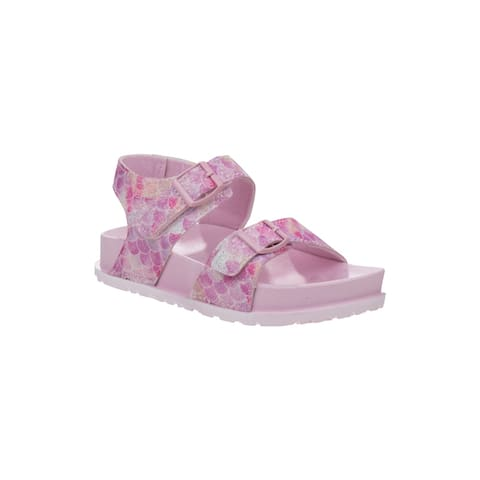 Laura Ashley Pink Mermaid Buckles Sandals Little Girls