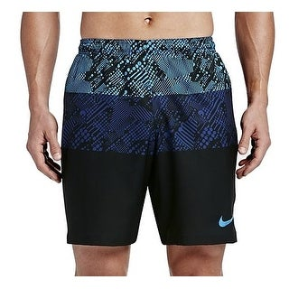 Nike NEW Blue Men Size 2XL Printed Colorblock Drawstring Athletic Shorts