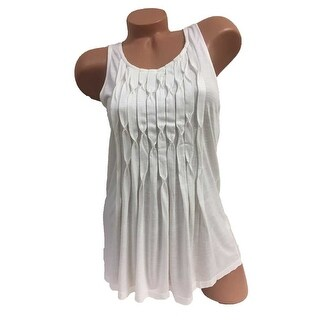 Elle Women's Origami Pleated Tank Top