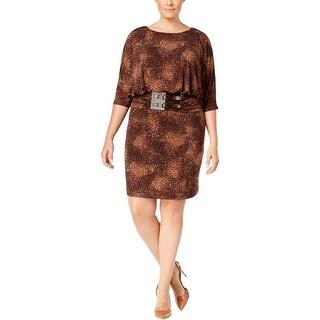 Jessica Howard Womens Plus Casual Dress Jersey Printed - 24W