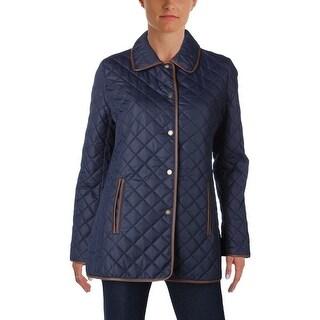 Lauren Ralph Lauren Womens Coat Quilted Collared