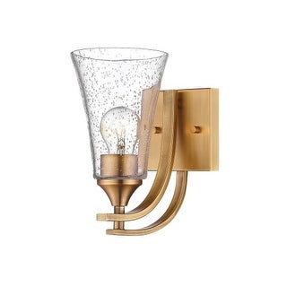 "Millennium Lighting 1491 Natalie Single Light 5"" Wide Bathroom Sconce with Glass Shade"