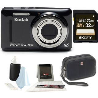 KODAK PIXPRO Friendly Zoom FZ53 (Black) + Sony 32GB Class 10 70MB/s SDHC Memory