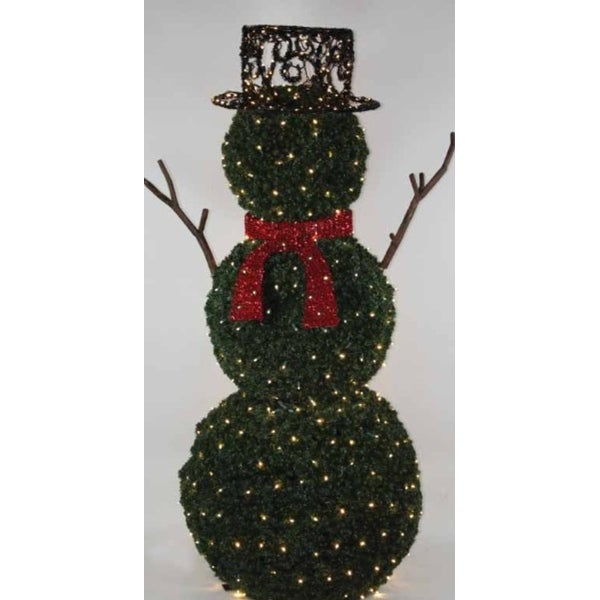 65 giant commercial grade led lighted snowman topiary outdoor christmas decoration - Topiary Christmas Decorations