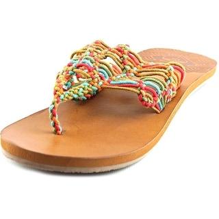 Roxy Surya Open Toe Canvas Thong Sandal