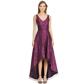 Pamella by Pamella Roland Brocade High-low Hem Evening Gown Dress
