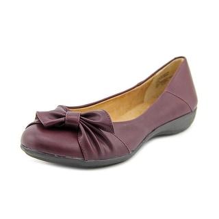 White Mountain Mina Women Round Toe Synthetic Purple Flats