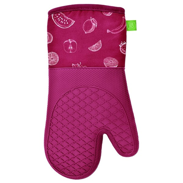 """Oven Mitts Silicone Printed 2PK Red - 13"""" x 7"""". Opens flyout."""