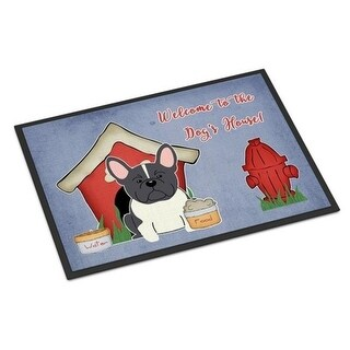 Carolines Treasures BB2766JMAT Dog House Collection French Bulldog Black White Indoor or Outdoor Mat 24 x 0.25 x 36 in.