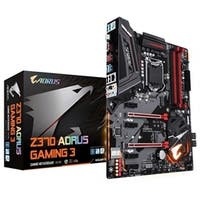 Gigabyte Motherboard Z370 AORUS Gaming 3 Intel Z370 LGA1151 DDR4 64GB PCI Express USB SATA Gaming with RGB ATX Retail