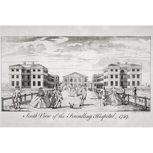 South View of The Foundling Hospital London 1749 Poster Print,