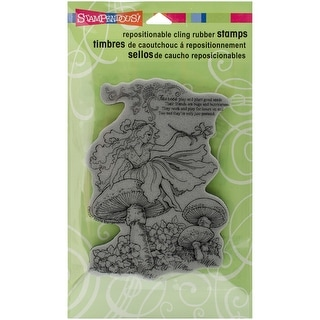 "Stampendous Cling Stamp 4""X6""-Fairy Friend"