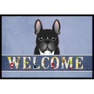 Carolines Treasures BB1413JMAT French Bulldog Welcome Indoor & Outdoor Mat 24 x 36 in.