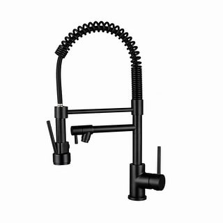 Link to Single Handle Pull-down Kitchen Faucet Matte Black Similar Items in Sinks