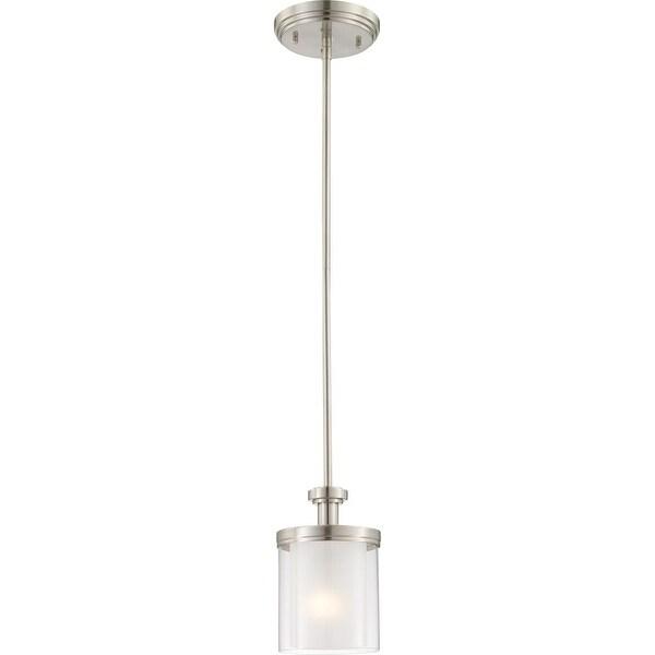 "Nuvo Lighting 60/4648 1-Light 6"" Wide Mini Pendant - Brushed nickel - n/a"
