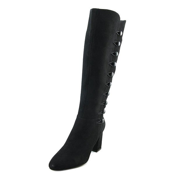 Impo Tactic Women Round Toe Suede Black Knee High Boot