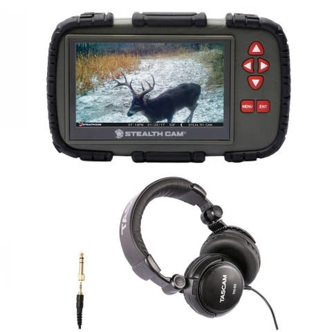 "Stealth Cam SD Card Reader/Viewer with 4.3"" LCD and Headphones Kit"