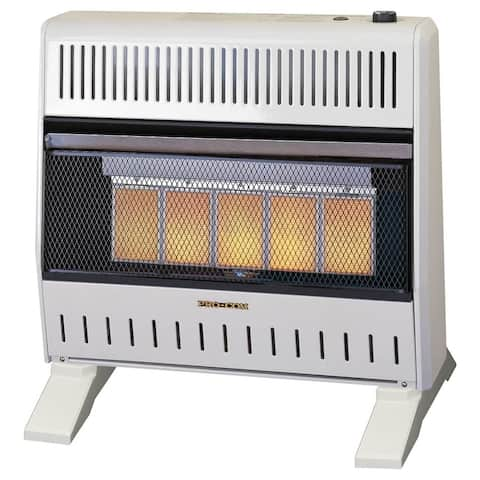 ProCom Heating Dual Fuel Ventless Infrared Gas Space Heater With Blower and Base - 30,000 BTU, 5 Plaque - Model# MNSD5TPA-BB
