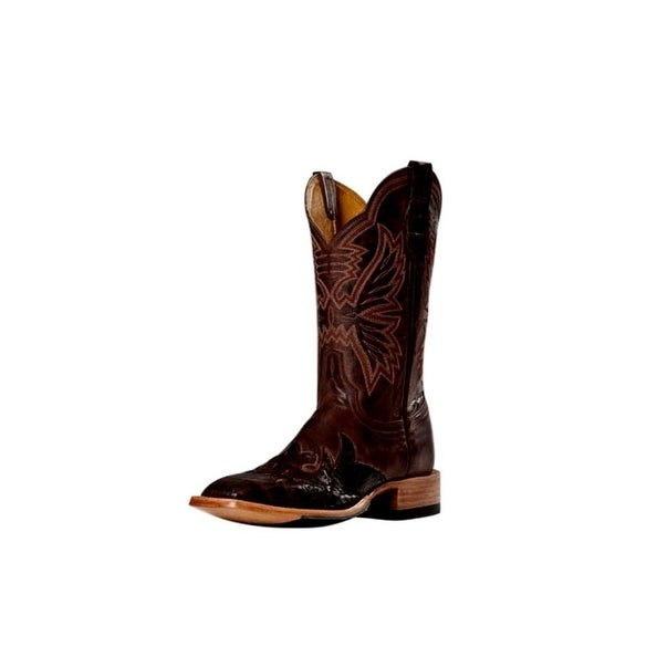 Cinch Western Boots Mens Cowboy Mad Dog Square Toe Cognac