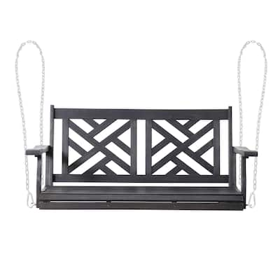 Alejandro Outdoor Acacia Wood Outdoor Hanging Porch Swing by Christopher Knight Home