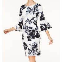 Jessica Howard Womens Petite Floral Sheath Dress