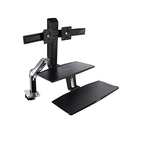 Ergotron Workfit-A Dual Monitor Sit-Stand Workstation With Keyboard