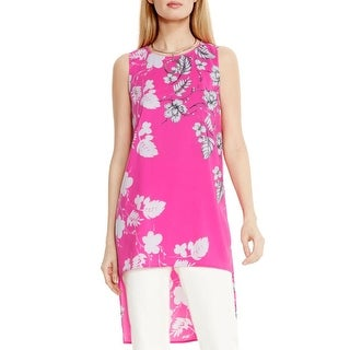Vince Camuto Womens Tunic Top Floral Print Hi-Low