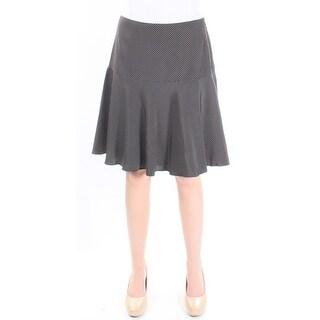 $115 RALPH LAUREN New Womens 1060 Black Polka Dot Mini A-Line Skirt 4 B+B