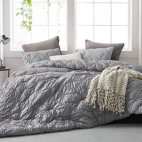 Farmhouse Morning Textured Bedding - Oversized Comforter - Alloy