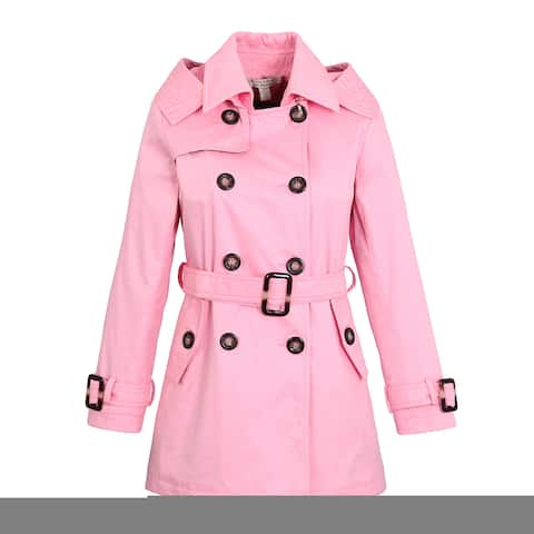 Richie House Girls' Classic Hooded Trenchcoat