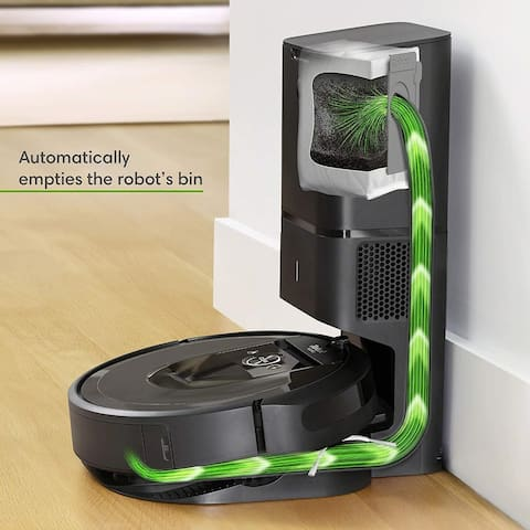 iRobot Roomba i7 Plus Wi-Fi Connected Robot Vacuum with Automatic Dirt Disposal.