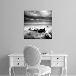 Easy Art Prints PhotoINC Studio's 'Rocks on Beach' Premium Canvas Art