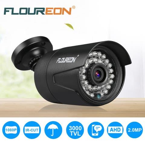 FLOUREON 1080P 2.0MP 3000TVL NTSC Waterproof Outdoor CCTV DVR Security Camera Night Vision