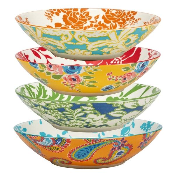 Certified International Damask Floral Assorted Designs Soup/Cereal Bowls, Set of 4. Opens flyout.
