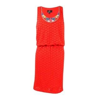 Ronnie Nicole Women's Beaded Neckline Blouson Dress - 6