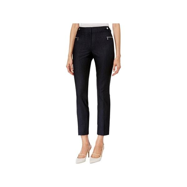 Shop Calvin Klein Womens Ankle Pants Straight Leg Textured - 16 ... 6d6cceffa